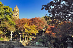 Suzhou tiger hill. Suzhou Huqiu tower is famous world culture heritage, yet tower body glacis Royalty Free Stock Photos