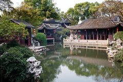 Suzhou Tongli Garden Retreat Park Royalty Free Stock Images