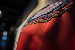 Suzhou tsu silk qipao. stock photography