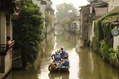 Suzhou watertown i Kina Arkivbilder