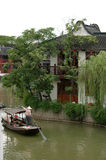 Suzhou waterway. Named the Venice of China, this is one of the many waterways that make up the town of Suzhou Royalty Free Stock Photo
