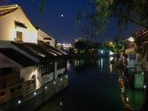 Suzhoustad, Shantangjie-Straat, China, beroemde toeristische attracties royalty-vrije stock afbeelding
