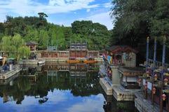 SuZou街道在颐和园 库存照片