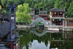 SuZou街道在颐和园 库存图片