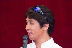 SUZUKA, JAPAN - July 29 : during talk show at 2012. Suzuka 8 hours World Endurance Championship Race, on July 29, 2012 in Suzuka Circuit, Japan Royalty Free Stock Photo