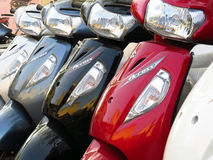 Suzuki Bikes. For sale in an Indian bike showroom Royalty Free Stock Images