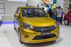 Suzuki Celerio a compact car showed in 31th Thailand Internation Stock Photo