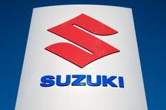 Suzuki dealership sign against blue sky Royalty Free Stock Image