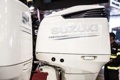 Suzuki Four Stroke Outboard Motor Royalty Free Stock Photography