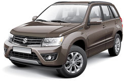 Suzuki Grand Vitara. Detail vector image of Japanese compact crossover - Suzuki Grand Vitara, isolated on white background. File contains gradients, blends and stock illustration
