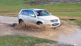 SUZUKI Grand Vitara Mountain Journey Royalty Free Stock Photography