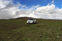 SUZUKI Grand Vitara Mountain Journey Royalty Free Stock Photo