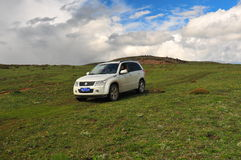 SUZUKI Grand Vitara Mountain Journey Royalty Free Stock Images