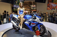 Suzuki gsx-r 1000 in EICMA 2011 Stock Foto