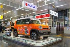 Suzuki Hustler. OSAKA, JAPAN - NOVEMBER 22 2015: Suzuki Hustler - a compact SUV, RJC (The Automotive Researchers' and Journalists' Conference of Japan) Car Stock Photos