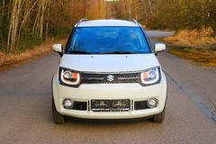 Suzuki Ignis car with 1.2 Dualjet engine. Stock Photos