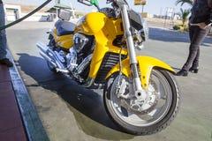 Suzuki Intruder M1800R refuelling deposit Royalty Free Stock Photos