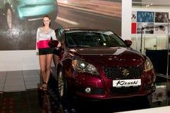 Suzuki Kizashi - russian premiere Royalty Free Stock Photos