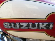 Suzuki logo on motorbike royalty free stock photos