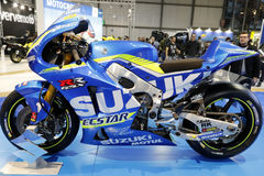 The suzuki moto gp 2016 Royalty Free Stock Image