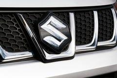 Suzuki Motor corporation logo on Suzuki Vitara car Royalty Free Stock Photos
