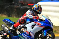 Suzuki Pro bike racing Royalty Free Stock Photography