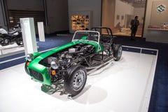 Suzuki que compite con el coche del vintage Imágenes de archivo libres de regalías