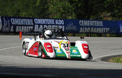 Suzuki Radical SR4. A Suzuki Radical SR4 driven by Cataldo Esposito during the 45° Trofeo Luigi Fagioli a competition race of hill-climb for modern cars valid Royalty Free Stock Image