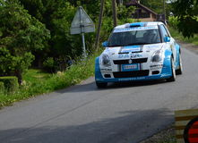 Suzuki rally car. Suzuki Swift S1600 rally car Stock Photos