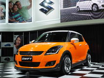 Suzuki's 4-door subcompact car SWIFT VVT Stock Photography