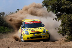 Suzuki Swift S1600 Rally Car. In the picture we see a Suzuki Swift rally car by Olle Alexander leads rally in Budapest (Hungary) 26 May 2007 Royalty Free Stock Image