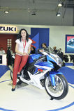 Suzuki team. Batalha - February 6, 2011: suzuki participating in the event of the Expomoto - Hall of bikes, accessories and equipment on February 6, 2011 in Royalty Free Stock Photo