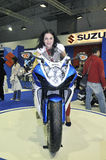 Suzuki team. Batalha - February 6, 2011: Honda participating in the event of the Expomoto - Hall of bikes, accessories and equipment on February 6, 2011 in Royalty Free Stock Image