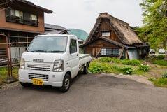 Suzuki truck. Shirakawa-go, Japan - May 3, 2016: Suzuki truck in Historical village of Shirakawa-go. Shirakawa-go is one of Japan's UNESCO World Heritage Sites stock photos