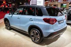 Suzuki Vitara SUV car. PARIS - OCT 2, 2018: New Suzuki Vitara SUV car showcased at the Paris Motor Show royalty free stock images