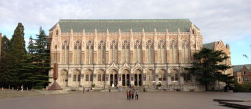 Suzzallobibliotheek in UW royalty-vrije stock foto's
