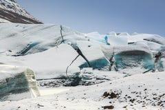 Svínafellsjökull Glacier, Iceland Stock Photo