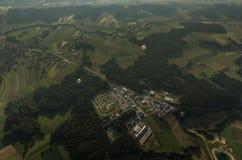 svälla i det gröna landskapet Royaltyfri Foto