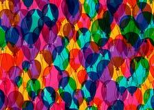 Svälla sömlös bakgrund för begrepp för modell för parti för färgfödelsedagårsdag Arkivfoto