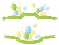 sväller den gröna deltagaren för baner vektor illustrationer