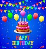 sväller den lyckliga födelsedagen Royaltyfri Illustrationer