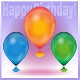 sväller den lyckliga födelsedagen Royaltyfri Bild