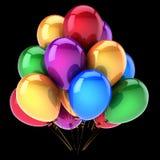 Sväller mångfärgad garnering för partiet för den lyckliga födelsedagen färgrikt Royaltyfri Foto