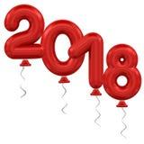 sväller nytt år Arkivbilder