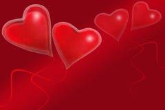 sväller röda hjärtor royaltyfri illustrationer