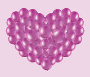 Sväller rosa hjärta Arkivfoton