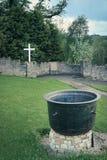 Svältkruka Donegal stad Ståndsmässiga Donegal ireland royaltyfria bilder