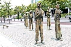 Svältminnesmärken, Dublin, Irland arkivfoton