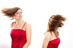 sväng för hår Royaltyfri Fotografi
