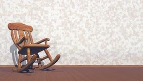 Svänga gungstol - 3D framför arkivfilmer